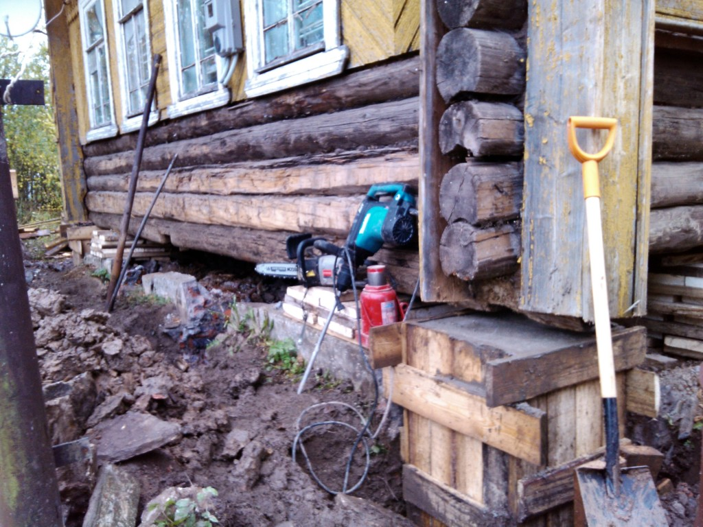 Strengthening the foundation of an old house